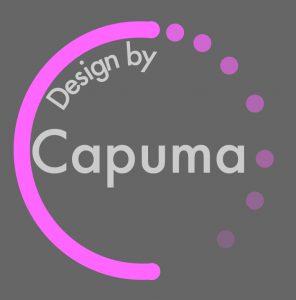 Design by Capuma logga grå bakgrund